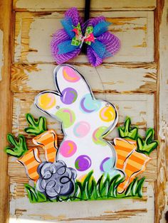 Easter+Bunny+Carrot+Spring+Door+Hanger+by+queensofcastles+on+Etsy