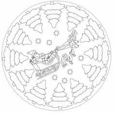 free christmas mandala coloring page Printable Flower Coloring Pages, Mandala Coloring Pages, Colouring Pages, Coloring Pages For Kids, Coloring Books, Christmas Mandala, Noel Christmas, Christmas Crafts For Kids, Christmas Colors