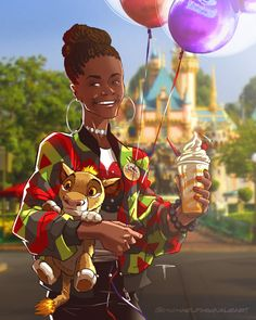 Shuri finally got to go to disneyland!