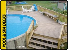Above Ground Pool Deck Kits | Decks & More Decks - Omaha Nebraska - custom decks for your spa & pool ...
