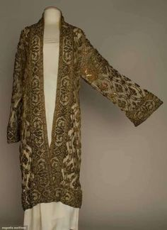 gold embroidered evening coat, 1920s by Terese Vernita