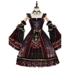 Steampunk Lolita, Gothic Lolita, Pretty Outfits, Pretty Dresses, Beautiful Outfits, Old Fashion Dresses, Party Dress Outfits, Mode Kpop, Grunge Goth
