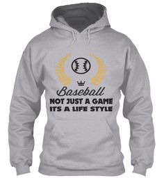 Baseball Is A Life Style| Hoodie And Tee Sport Grey T-Shirt Front