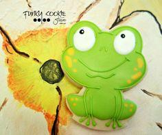 Frog cookie by Funky Cookie Studio