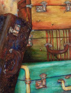Vintage Luggage Painting - Winona Steunenberg