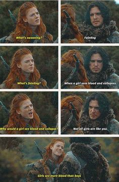 And finally, Ygritte from Game of Thrones proving that Jon Snow does indeed know nothing. | 17 Things That Prove Having Your Period Is Actually Hilarious