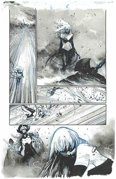 Yabbat UMMON TURRU (BLACK SWAN) and Proxima MIDNIGHT | Earth 1365 and 616 | An ARTIST: Olivier COIPEL Comic Book Artists, Comic Artist, Comic Books Art, Bd Comics, Manga Comics, Illustrations, Illustration Art, Storyboard, Comic Book Layout