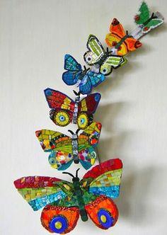 Mozaik - kelebekler