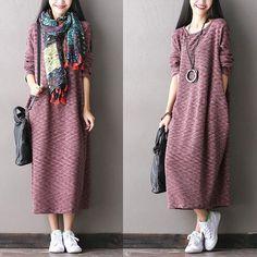 Stretch Cotton Knit Dress