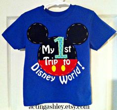 My First 1st Trip to Disney World Shirt for Boys by ActingAshley, $24.99