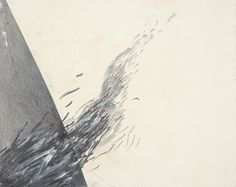 Jay DeFeo  The Tissue of Falling Columns No. 8 1988  oil and graphite on ragboard  16 x 20 inches
