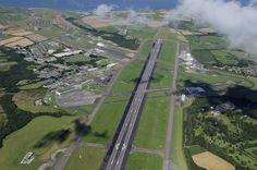 Cornwall Airport Newquay - aerial image | by John Fielding - Originally a civilian airfield in 1933. RAF Trebelzue in 1939 followed by RAF St Mawgan in 1943. In 1962 a portion of RAF St Mawgan became known as Newquay Airport. It became Newquay Cornwall Airport in 2007 and ... rebranded .... Cornwall Airport Newquay in 2015. #cornwall #airport #newquay #aerial