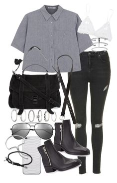 """""""Untitled #18827"""" by florencia95 ❤ liked on Polyvore featuring Forever 21, Topshop, T By Alexander Wang, Proenza Schouler, Hanky Panky, H&M, 3.1 Phillip Lim, Yves Saint Laurent, Monica Vinader and David Yurman"""