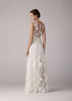 ... Spitze und elegante, schlichte Hochzeitskleider passend zur Shabby