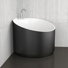 Freistehende Badewanne / Eck / aus Acryl MINI BLACK GLASS DESIGN Srl