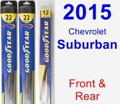 Front & Rear Wiper Blade Pack for 2015 Chevrolet Suburban - Hybrid