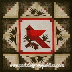 Prairie Grove Peddler Winter Quilts...reminds me of my great grandma she loved cardinals and birds