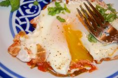 Uova in Brodetto: Eggs in Tomato Sauce - Newlyweds Mario Batali, Baked Eggs, Tomato Sauce, Blame, Newlyweds, Food Pictures, Food Network Recipes, Challenge