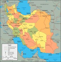 awesome Map of Iran Travelsmaps Pinterest Iran