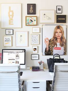 My Office Gallery Wall + Tips - MadeByGirl