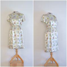 Vintage Silber Satin wackeln Kleid / / 1960er von langvintage