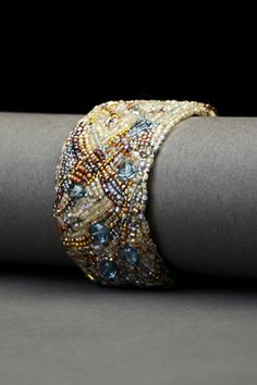London Blue Couture Cuff | Andrea Gutierrez Jewelry