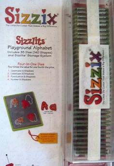 Sizzlits 35 Die Playground Alphabet Set