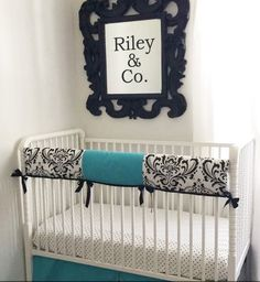 Tiffany & Black custom baby bedding.  Bc diamonds are your baby's best friend too.