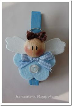 Ste creazioni- just change blue colors Christmas Love, Christmas Angels, Christmas Crafts, Christmas Decorations, Christmas Ornaments, Felt Crafts, Crafts To Make, Crafts For Kids, Arts And Crafts