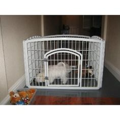 check out this great indoor dog pen offered by iris