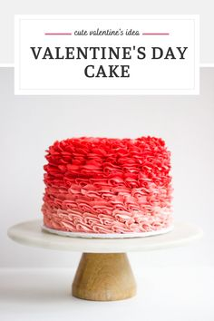 Here's a cute valentine's idea - create a valentine's day cake using the Wilton 1M piping tip. Color your buttercream to decorate a red to pink ombre cake to celebrate your loved ones!