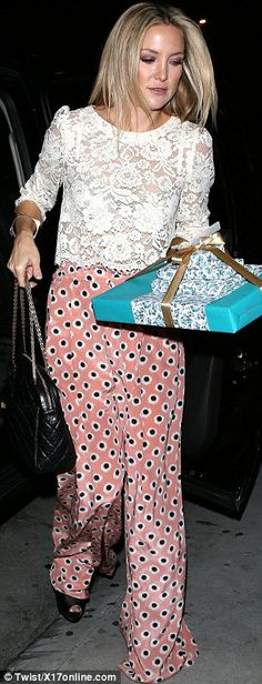 Top of the bottoms: Kate Hudson and Fergie were impossible to ignore in Beverly Hills on T...