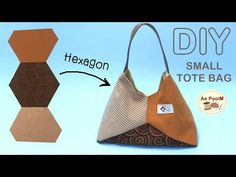 Small Tote Bags, Hexagon Pattern, Blouse Neck Designs, Boat Neck, Bag Making, Purses And Bags, Upcycle, Sewing, Fabric