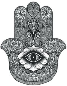 Hamsa- I want this on my shoulder with a pretty pink and blue coloring.