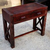 >Nairobi Hand Carved Cherry Hall Console Table