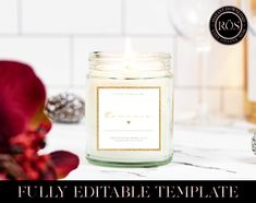 Candle Shop, Candle Jars, Candles, Label Templates, Paper, Etsy, Candy, Candle Sticks, Candle