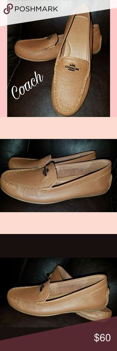 Coach Mary Lock up COACH MARY LOCK UP PEBBLE GRAIN LEATHER LOAFER SHOES.!!   These are sample shoes Been try them on.   New  No box Coach Shoes Flats & Loafers