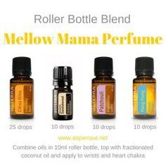 mellow mama perfume roller bottle blend citrus bliss Hawaiian sandalwood patchouli ylang ylang doterra essential oils by maryellen