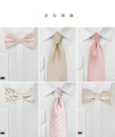 Groomsmen Accessories For Rose Gold Weddings.