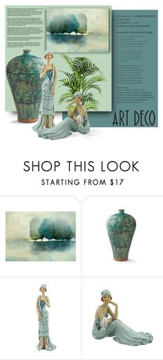 """""""Art Deco"""" by signaturenails-dstanley ❤ liked on Polyvore featuring interior, interiors, interior design, home, home decor, interior decorating and Frontgate"""