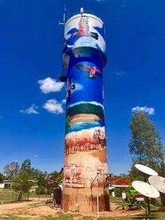 Grafitti Street, Dazzle Camouflage, Barn Art, Graffiti Murals, Pop Art, Gallon Of Water, Building Art, Water Tower, Cool Countries