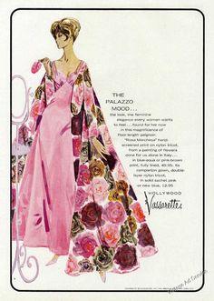"Vintage Lingerie Ads | 1962 Hollywood Vassarette ""Rosa Marchesa"" Peignoir Ad | VA VA VOOM ..."