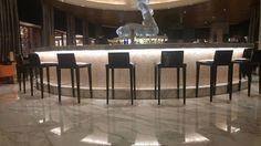 Fiberglass chair made for our customer who runs a bar.