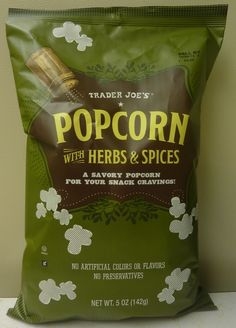 Trader Joe's Popcorn with Herbs and Spices!