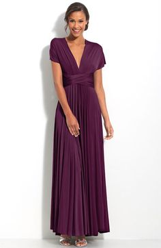 twobirds Convertible Jersey Gown | Nordstrom - want this SO much but not sure I can ask my bridesmaids to pay $200-$300 for just their dresses