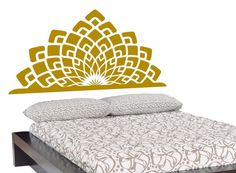 Headboard Wall DECAL- KING BED- interior design, tattoo, sticker art, room, home and business decor. $60.00, via Etsy.