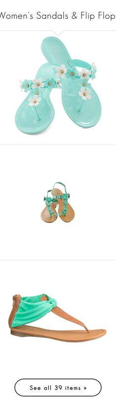 """""""Women's Sandals & Flip Flops"""" by servayne ❤ liked on Polyvore featuring shoes, sandals, blue, flats sandals, blue flat shoes, synthetic shoes, blue shoes, flat shoes, t strap shoes and elastic-strap sandals"""