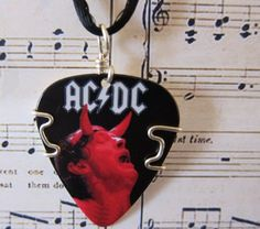 AC DC Guitar Pick Pendant at www.twistedpicks.com