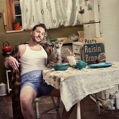 Breakfast Essentials,I'm a photographer, animal lover, and vintage enthusiast. Pin-ups and animals are my favorite subjects. I could've taken the clichéd approach and photographed dogs and men. They say real men love dogs, but dogs are easy to please. Real men love cats.