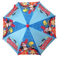 Captain Jake and the Never Land Pirates Boys Molded Sword Handle Umbrella. For functional purposes made to keep your child dry in the rain while looking cute and having fun at the same time.<br><br>Yo Ho, Let's Go! Come on mateys, with Jake and the Never Land Pirates you can discover a world of adventure, team work, and fun. So gather up your doubloons and come find toys, games, accessories and more right <a…